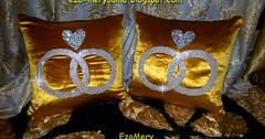 طريقة خياطة اروع وسائد لتزيين وللعرايس بورق الجيلاتين و الخرز موديل جديد (ezo-handmade) Tags: اشغال يدوية الطرز و الخياطة خياطة وسائد pillow