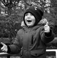 Thumbs up by Julie Adams (julz.adams) Tags: young children child photography pics photo aberdeen blackandwhite boy thankyou