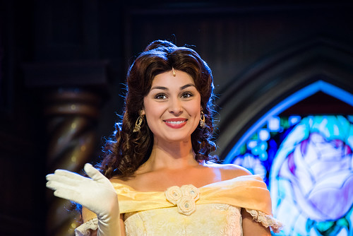 Belle in Beauty and the Beast show - Royal Theatre - Disneyland