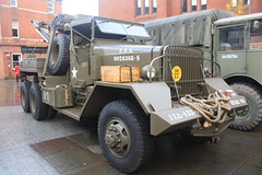WW2 American Recovery Lorry. Armistice Day 2018 in Leek. Ward LaFrance Wrecker Made in USA. (Yesteryear-Automotive) Tags: armistice day leek staffordshire american ww2 army lorry ward la france heavy wrecker recovery vehicle olive drab military transport truck