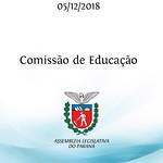 Reunião da Comissão de Educação 05/12/2018
