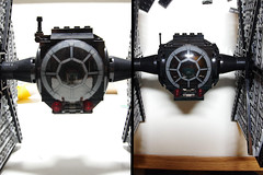 First Order TIE Fighter: Rounding Pic 1 (Evrant) Tags: lego star wars tie fighter starfighter first order custom moc spaceship starship ship evrant