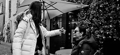 In your face. (Baz 120) Tags: candid candidstreet candidportrait city candidface contrast street streetphotography streetphoto streetcandid streetportrait strangers rome roma ricohgrii europe women monochrome monotone mono noiretblanc bw blackandwhite urban life portrait people italy italia grittystreetphotography faces decisivemoment