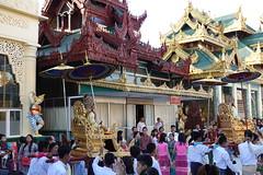 Ordination ceremony for novice Buddhist monks, Shwedagon Pagoda, Yangon (5) (Prof. Mortel) Tags: myanmar burma yangon rangoon buddhist pagoda shwedagon monks