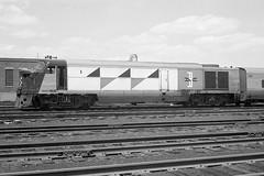 Boston & Maine Fairbanks-Morse P12-42 #1 at Boston, MA on 6/8/1962. (8x12) (Houghton's RailImages) Tags: talgo fairbanks fm bostonmaine railroad bm bw trains locomotives boston massachusetts usa