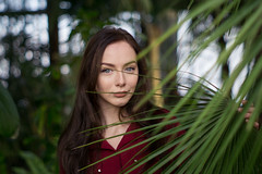 Botanical (bunis321) Tags: botanical gardens sony alpha a6000 retro vintage model garden palm palms fashion asahi takumar bokeh wide open girl chick woman pentax latvia tropic tropical forest leafs green dress eyes adorable cute pretty riga portrait shoot 55mm a6300 a6500 a7 a7ii a7iii
