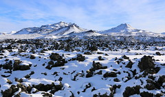 Rugged land (hó) Tags: berserkjahraun snæfellsnes kerlingarfjall hafrafell lava aa landscape geology mountains iceland snow winter rugged