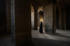 Inside Iran - VI (Marsel van Oosten) Tags: squiver marselvanoosten iran middleeast historicalbuilding mosque islam muslim traditional building architecture travel photography phototour workshop award pillars tiles structure heritage culture