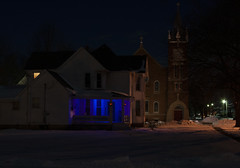 Blue Porch (sarahbachtold) Tags: lights nightphoto nighttime house blue