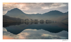 Buttermere Winter Pano (jholls84) Tags: buttermere pines sentinals fleetworth haystacks lake reflections dawn sunrise calm still lakedistrict cumbria