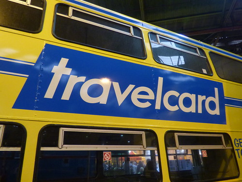Yellow Travelcard Bus Yardley Wood Bus Garage 80th Birthday