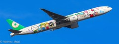 Boeing 777-300ER / Eva Airways (Hello Kitty Sanrio Family) (matdu20eme) Tags: taïwan airport pilot canon flying fly travel paris cdg airliners airliner airlines airline planespotter planespotting spotter spotting spotted aircraft airplane aviation avion plane hellokitty evaair boeing777 777 boeing