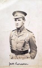 Australian soldier - Jack Richardson - WW1 (Aussie~mobs) Tags: jackrichardson soldier portrait australia military army uniform ww1