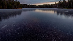 Sipoonkorpi National Park, Finland. (Esa Suomaa) Tags: esasuomaa sipoonkorpi vantaa helsinki lake autumn winter suomi finland järvi ice olympusomd