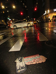 Car Driving Under Crescent Moon - House of Hades7991 (Brechtbug) Tags: cigarette house hades toynbee tile north 7th ave 53rd street intersection new york city man versus american media society 2017 fact year i e always represents actual date placed art artist mosaic parts part jumbled black top asfalt 12202018 nyc 2018 smoker toynbees tiles location located cigarettes smoke smoking forth avenue