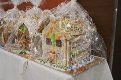 Gingerbread House Decorated by Arena (NottawasagaResort) Tags: nottawasagaresort nottawasaga nottawasagainn nottawasagainnresort inn resort hotel raffle humane society gingerbread gingerbreadhouse candy house chocolate frosting christmas charity alliston allistonontario donation staff event dogs cats pets sugarplumfair sugar plum fair spf barbie cookie monster local animals