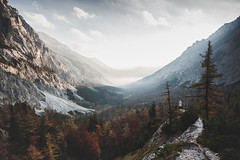 you told me to let go... (STEPtheWOLF) Tags: naturelovers landscape mountains trees path fallcolors autumnwoods autumn austria morning seewiesen view canon 5d3