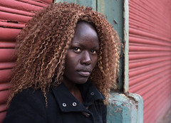 Ugandan Girl (Charles Hamilton Photography) Tags: glasgow thebarras characterstudy colourstreetportrait eyes shutters colours urbanportrait urbanscene naturallight glasgowstreetphotography stranger style nikond750 charleshamilton