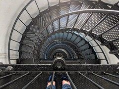 Spiral With Blue Shoes (Jane Inman Stormer) Tags: lighthouse stairs spiral down lookingdown florida staugustine haunted shoes feet climb ybs2018