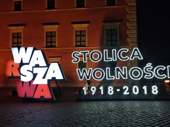 Warszawa & 100th Anniversary (Alexanyan) Tags: polska poland warsaw warszawa 100th anniversary europe night capital city republic first 1918 light