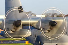 US Marines C130 (Dougie Edmond) Tags: plane military aircrafr port egpk pik prestwick scotland unitedkingdom gb