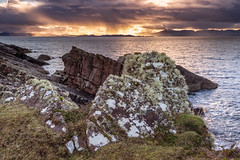Storm over skye (malcbawn) Tags: litchen rock redpoint storm scotland westerross skye sea