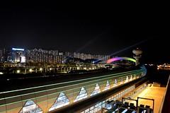 Laser Light Show (Seventh Heaven Photography *) Tags: hong kong nikon d3200 night kaitak cruise terminal laser light show