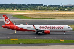 """Air Berlin D-ABCO Airbus A321-211 Sharklets cn/6501 Painted in """"AirDüsseldorf"""" special colours Sep 2015 - Jan 2017 trfd OE-LCO Niki 11. Apr 2017 wfu 05-11-2017 std at WOE 06-11-2017 @ EDDL / DUS 26-06-2016 (Nabil Molinari Photography) Tags: air berlin dabco airbus a321211 sharklets cn6501 painted airdüsseldorf special colours sep 2015 jan 2017 trfd oelco niki 11 apr wfu 05112017 std woe 06112017 eddl dus 26062016"""