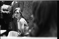 NideenRyanWedding_352 (Johnny Martyr) Tags: wedding guest woman girl portrait alone isolated black white film 35mm contrast light harsh shadows composition out focus grainy high speed iso delta ilforddelta3200 kodak hc110b