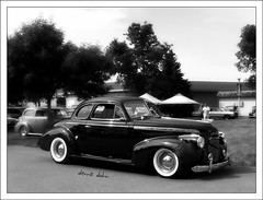 Black Forty Chevy (novice09) Tags: backtothefifties carshow chevrolet 1940 coupe streetrod whitewalls blackandwhite monochrome ipiccy