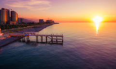 Batumi Aerial Sunset (free3yourmind) Tags: batumi aerial sunset georgia pier jetty view sun xiaomi mi blacksea above golden hour