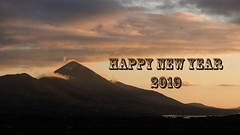 Happy New Year (mickreynolds) Tags: croaghpatrick nx500 sunset happy new year 2019