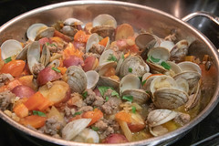 Clam Pan Roast with Sausage and Fennel (Tom Ipri) Tags: canoneos5dmarkiv clams marthastewart seafood diningin