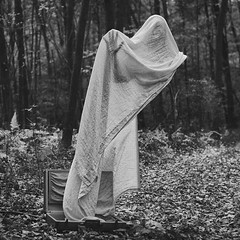 boo! ooo (shaf44) Tags: photography surreal ghost scary forest suitcaseghost weird creepy