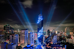 MahaNakhon tower is tallest buildings in Thailand, Silom area, Bangkok Thailand (Patrick Foto ;)) Tags: abstract architecture asia asian bangkok beauty blue building business capital center city cityscape commercial construction district downtown dusk evening financial illuminate landscape laser light mahanakorn metropolis metropolitan modern motion night office phraya road scene scenic silom sky skyline skyscraper street sunset tallest thai tower town traffic travel twilight urban urbanscape bangkokmetropolitanregion thailand th