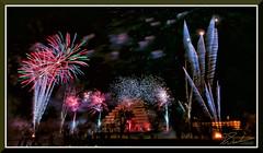 Fireworks_9192 (bjarne.winkler) Tags: 2018 new year fireworks over sacramento river california tower bridge pyramid ziggurat building delta king