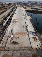 Oakland Embarcadero Bridge construction (samayoukodomo) Tags: djimavicpro mavicpro drone droneview dronephotography aerialview aerial aerialphotography takingthedroneouttogethigh quadcopter