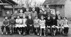 Class photo (theirhistory) Tags: boy children kid girl school class form pupil coat jacket dress shoes wellies rubberboots