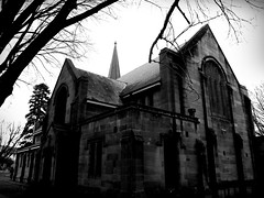 Hoskins Memorial Church (sturkster) Tags: a1200 australia australie architecture canona1200 canonpowershota1200 church churcharchitecture bw blackwhite noiretblanc monochrome nsw photoscape powershot 2790