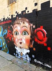 Clowny by Sipros Sipros (wiredforlego) Tags: graffiti mural streetart urbanart aerosolart publicart williamsburg brooklyn newyork nyc ny siprossirpros