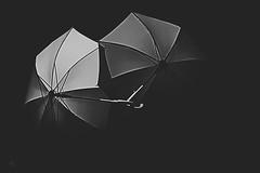 Histoire d'aimer ... (j'ai des pellicules plein la tête ...) Tags: parapluie monochrome gris grey artistique art arts