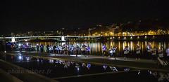 Course des lumières à Lyon. (louis.labbez) Tags: toit fleuve rhône saone river confluences lyon ville town urbanisme ile 69 france race light lumière route course pont bridge illumination rhônealpes labbez
