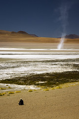 Atacama Desert, Bolivia (Phil Spalding) Tags: chile bolivia atacama desert sky sea sand lake shore shoreline saturated colourful man looking onwards humble humbling canon 550d eos