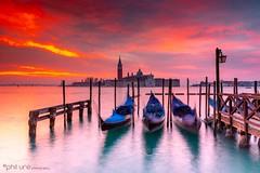 San Giorgio Maggiore (Pureo) Tags: amateur beach canon coast canondslr dawn exposure goldenhour glow island venice grandcanal gondolas boats bobbing sunrise seascape sangiorgio