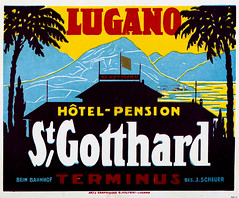 20th century luggage label for Hotel Pension on Lake Lugano, Switzerland (thstrand) Tags: painting commercialart visualarts artwork art redyellowblue primarycolors 1920s 1930s 1940s 19thcentury 20thcentury adventure advert advertise advertisement advertising brightcolors business color colorful colors comfort europe european geographycountries graphicarts graphicdesign green historic history historyoftravel hotel hotels labels lettering lugano luggagelabel luxury nobody saintgotthard stgotthard steamertrunks sticker stickers suitcase suitcases swiss switzerland text tourism touristdestination transport transportation travel traveldestinations trunk trunks type