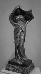 New Discoveries (dayman1776) Tags: nude sculpture sensual statue sony a6000 art museum national gallery black white bw bronze escultura skulptur sculptor french washington dc female figurative woman girl classical