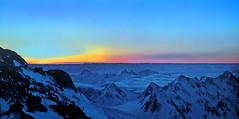 FRANCE - Alps at sunrise (Jacques Rollet (very little available)) Tags: mountain montagne sunrise aurore neige hiver winter ski ciel twilight snow groupenuagesetciel