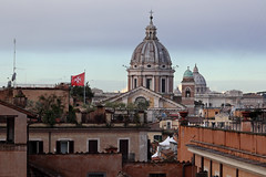 View to Rome from Piazza della Trinita dei Monti. Italy. IMG_3893 (mxpa) Tags: scalinataditrinitàdeimonti испанскаялестница рим rome city cityscape europe travel мальтийский флаг malta flag