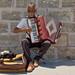 Straßenmusiker am Hafen von Chania