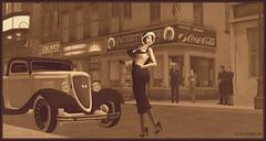 What's All The Hub-Bub, Bub? (Moxxie Kalinakova) Tags: retro vintage brunette curvy sexy beautiful classy classic smoking heels flapper vamp moxxie kalinakova